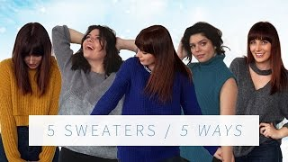 DIY SWEATER UPCYCLE 5 WAYS   THE SORRY GIRLS