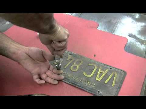 License Plate Restoration by Scared Shiftless