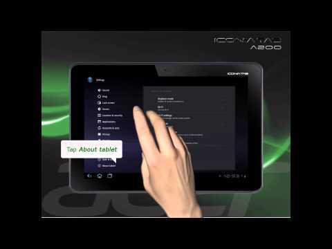 Iconia Tab A200 System Update - Ice Cream Sandwich 4.0 (ICS)