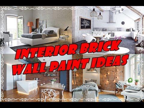 Interior Brick Wall Paint Ideas for Living Room Walls