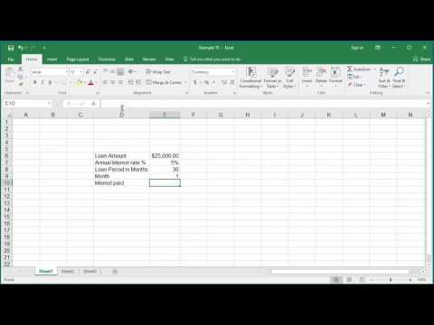 How to Calculate Interest Amount paid in a specific month for a loan in Excel 2016