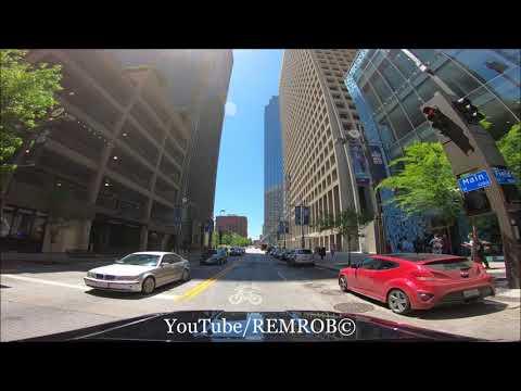 Driving Downtown Dallas, Texas  2018