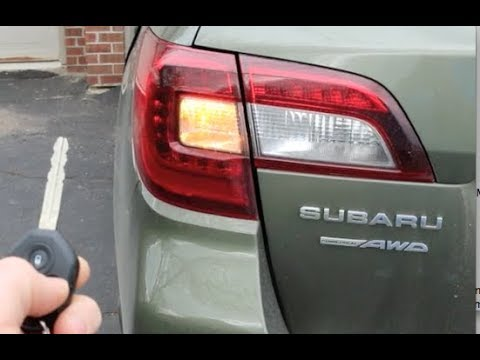 How To Subaru Outback AWD 4 ways to open and close the rear hatch Key Button Dash