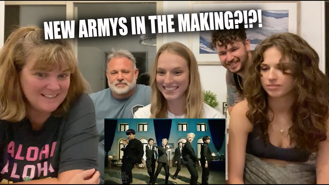 """Newbies React to BTS """"Butter"""" - The Late Show with Stephen Colbert"""