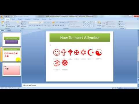 Insert A Symbol In MS PowerPoint