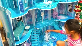 Disney Frozen Snowflake Mansion Toys Hunting At Costco | Toys Academy