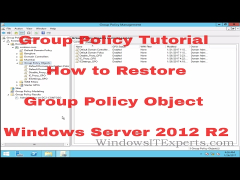 Group Policy Tutorial   How to Restore Group Policy Object in Windows Server 2012 R2
