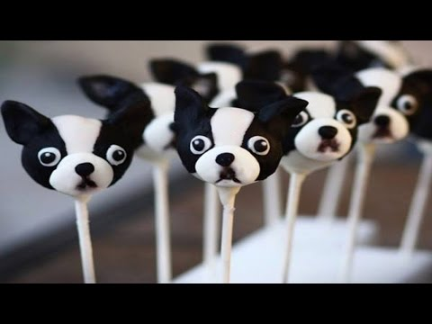 Decorated Dog Cookies And Cake Lollipops █▬█ █ ▀█▀