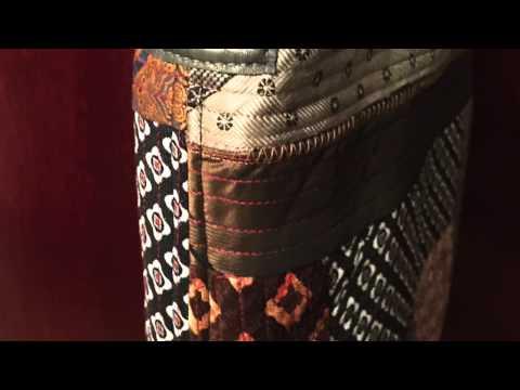 Tote bag is sewn from vintage men's ties