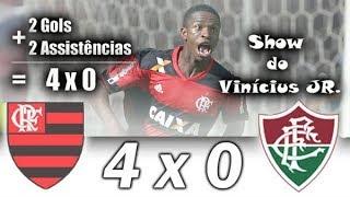 Flamengo 4 x 0 Fluminense | Show de Vinicius Jr !!!