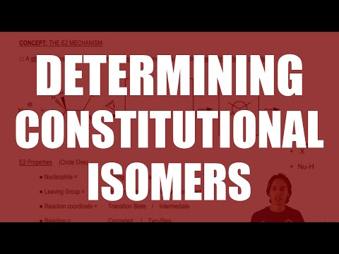 Determining when molecules are constitutional isomers
