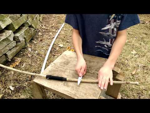 Easy homemade bow and arrow