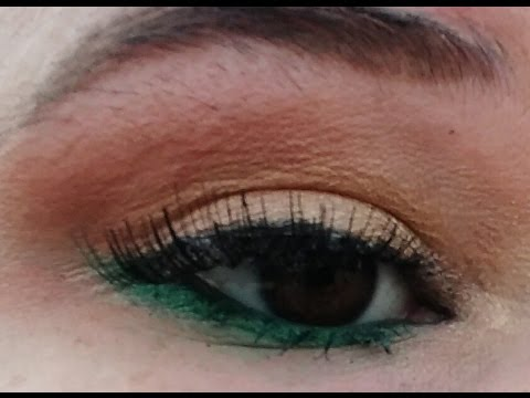 Green eyeshadow tutorial for brown eyes / Pinterest inspiration