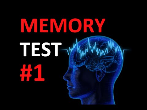 Quick Memory Test: How good is your memory? #1