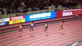Shaunae Miller wins 200m Women Semifinal 2 IAAF World Champs London 2017