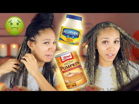I Used Mayonnaise and Pumpkin to Fix My Heat Damaged Hair! DOES IT WORK??