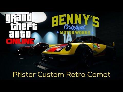 GTA Pfister Custom Retro Comet Race build Benny's Custom Garage Options