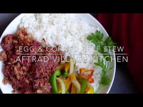 Egg & corned beef stew