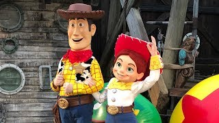 Woody, Jessie and Buzz meet and greets from Disney H20 Glow Nights at Disney