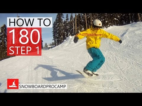 How to 180 on a Snowboard Step 1 - Snowboarding Tricks