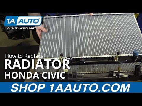 How to Replace Install Radiator 2001-05 Honda Civic