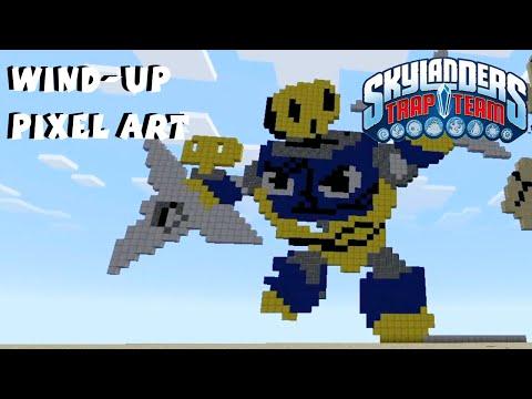 Wind Up Skylanders Pixel Art Minecraft Pocket Edition