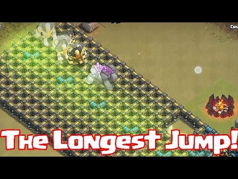 Clash Of Clans - THE LONGEST JUMP (W/ 5 Jump Spells!)