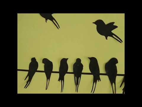 DIY-Stickers birds for wall decoration /how to make stickers at home/very easy and simple