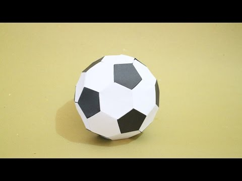 How To: Origami Soccer Ball Size 2 (Black-White)