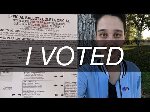 VOTING IN THE CA PRIMARY