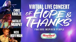 Virtual Live Concert of Hope & Thanks For Our Inspired People