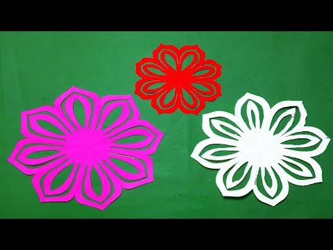 How to make Easy&Simple paper cutting Flowers?paper cutting patterns Instructions Kirigami Tutorial