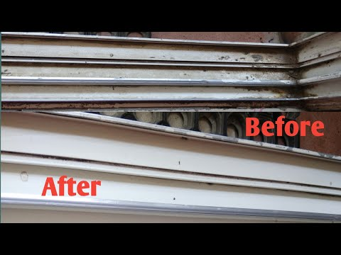 How to clean Sliding Door or Window tracks|How to Clean Tracks On Sliding Door|Cleaning Window Track