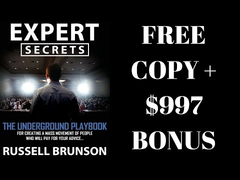 Expert Secrets Book Review Russell Brunson Free Copy