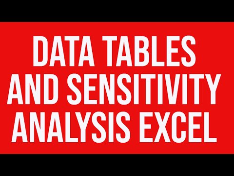 Data tables and sensitivity analysis Excel