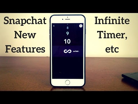 Snapchat Update: Infinite Timer, Endless Loop and Much More