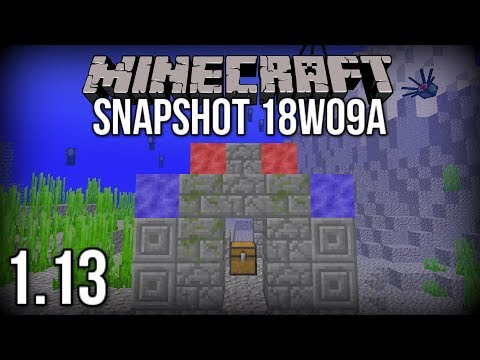 Minecraft 1.13 Snapshot 18w09a | Underwater Ruins and Coral! (Update Aquatic)
