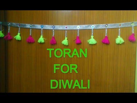 VERY EASY TORAN MAKING FOR DIWALI