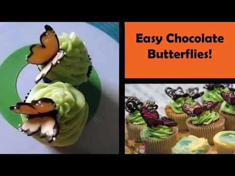 Chocolate butterflies! | Easy Chocolate Decorations| Cakes For Dayz