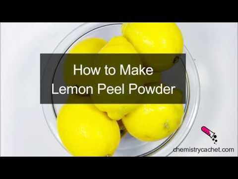How to Make Lemon Peel Powder from Chemistry Cachet