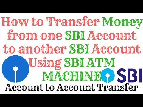 How to transfer Money From One SBI Account to Another SBI Account Using SBI ATM