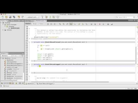 Simple Drawing Java Tutorial with Netbeans - German