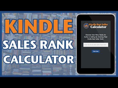 Amazon Sales Rank KDP Calculator