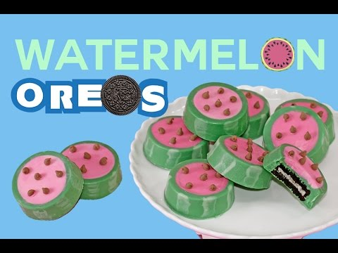 Watermelon OREO Cookies How to No-Bake Summer Snacks   My Cupcake Addiction