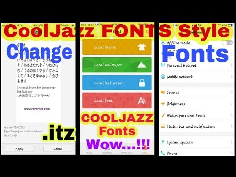 ANDROID Phone FONT STYLES   COOLJAZZ(Samsung) Fonts