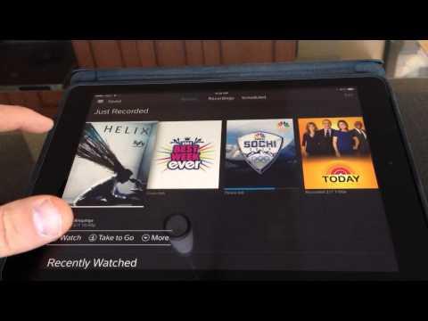 Demo of Xfinity X1 Cloud DVR iOS App