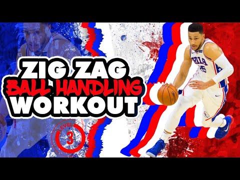6 MINUTE BALL HANDLING WORKOUT! ZIG ZAG LVL 3