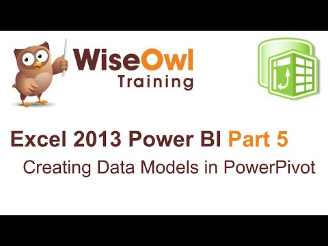 Excel 2013 Power BI Tools Part 5 - Creating Data Models in PowerPivot