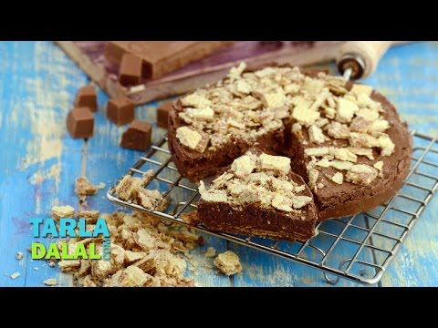 Chocolate Mousse Cake Recipe, No Bake No Oven Eggless Cake by Tarla Dalal