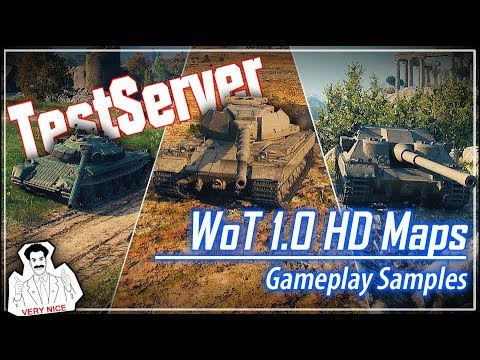 WoT 1.0 HD Maps - Gameplay Samples || World of Tanks